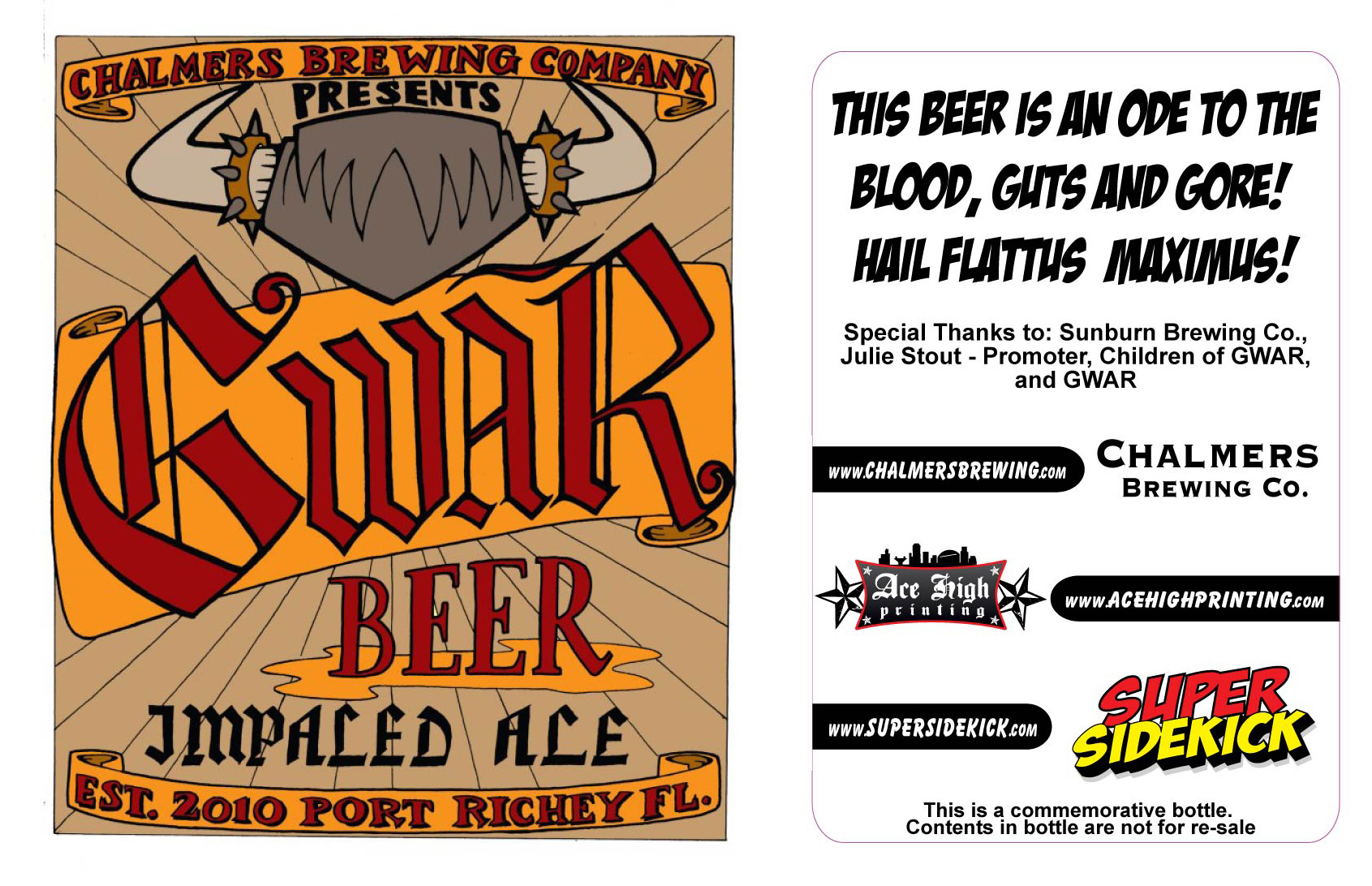 Impaled Ale label