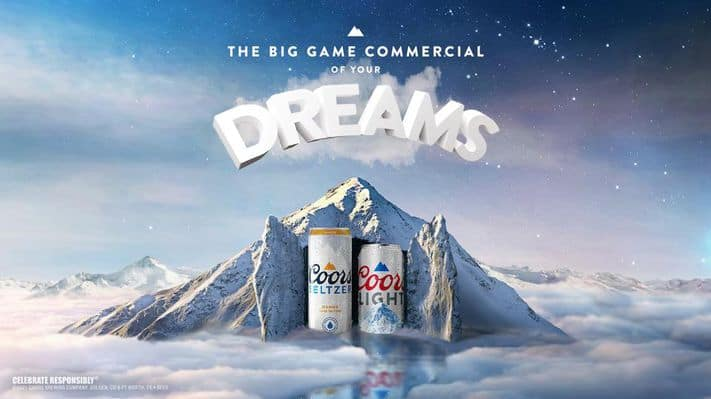 , Coors Light Inputs Beer Adverting Into Dreams